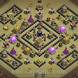 TH8 Anti 3 Stars War Base Plan with Link, Copy Town Hall 8 Design 2021, #35