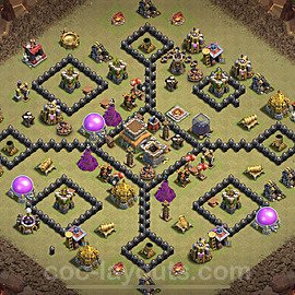 TH8 War Base Plan with Link, Copy Town Hall 8 Design 2020, #5