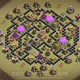 TH8 War Base Plan with Link, Copy Town Hall 8 Design 2020, #6