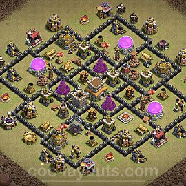 TH8 Max Levels War Base Plan with Link, Copy Town Hall 8 Design 2020, #7