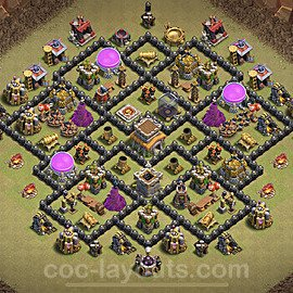 TH8 Max Levels War Base Plan with Link, Copy Town Hall 8 Design 2020, #8