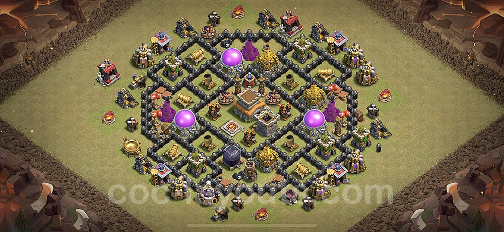 TH8 Anti 2 Stars War Base Plan with Link, Copy Town Hall 8 Design 2020, #23