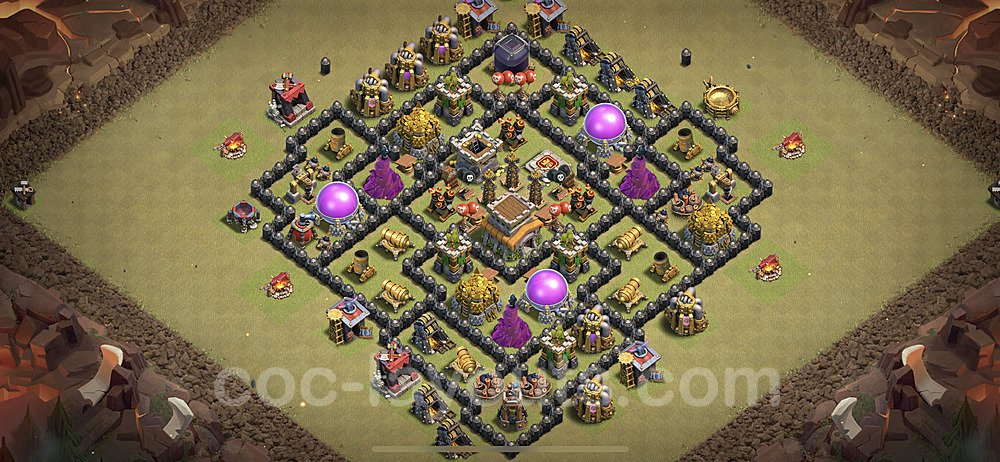 TH8 Max Levels War Base Plan with Link, Copy Town Hall 8 Design 2020, #28