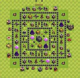 Meilleures bases de Clash of Clans pour défense – plan ...