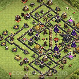 Anti Everything TH9 Base Plan with Link, Copy Town Hall 9 Design 2020, #166