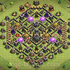 TH9 Anti 2 Stars Base Plan with Link, Copy Town Hall 9 Base Design 2020, #167
