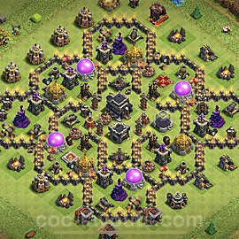 TH9 Anti 3 Stars Base Plan with Link, Copy Town Hall 9 Base Design 2020, #169