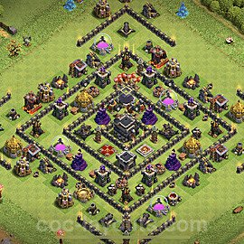 Top TH9 Unbeatable Anti Loot Base Plan with Link, Copy Town Hall 9 Base Design 2020, #170