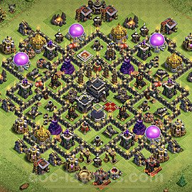 Anti Dragon TH9 Base Plan with Link, Copy Town Hall 9 Anti Air Design 2020, #172