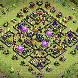 Full Upgrade TH9 Base Plan with Link, Copy Town Hall 9 Max Levels Design 2020, #174