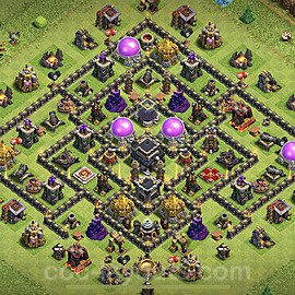 TH9 Anti 3 Stars Base Plan with Link, Copy Town Hall 9 Base Design 2020, #175