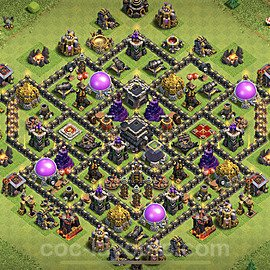 Full Upgrade TH9 Base Plan with Link, Copy Town Hall 9 Max Levels Design 2020, #176