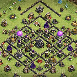 Anti Everything TH9 Base Plan with Link, Copy Town Hall 9 Design 2021, #187