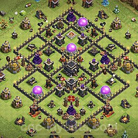 Full Upgrade TH9 Base Plan with Link, Copy Town Hall 9 Max Levels Design 2021, #189