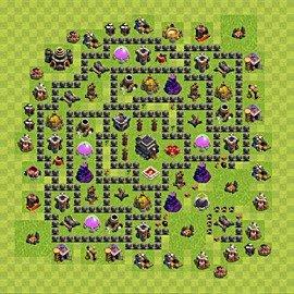 Meilleures bases de clash of clans plan h 244 tel de ville niveau 9