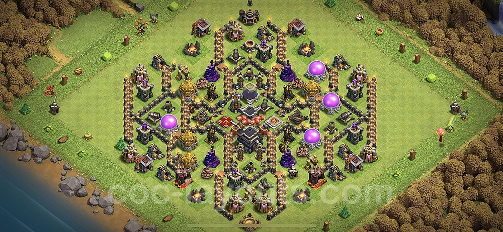 TH9 Anti 2 Stars Base Plan with Link, Copy Town Hall 9 Base Design 2020, #180