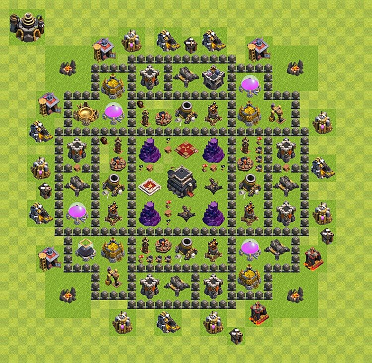 Clash Of Clans Base 9Th