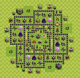 Base plan TH9 (design / layout) for Farming, #1