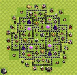 Base plan TH9 (design / layout) for Farming, #10
