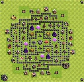 Base plan TH9 (design / layout) for Farming, #11