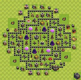 Base plan TH9 (design / layout) for Farming, #12