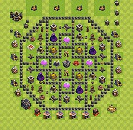 Base plan TH9 (design / layout) for Farming, #2