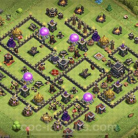 Base plan TH9 (design / layout) with Link for Farming 2020, #200