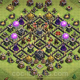 Base plan TH9 Max Levels with Link for Farming 2020, #201