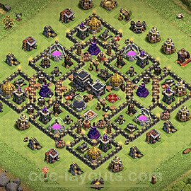 Base plan TH9 Max Levels with Link for Farming 2020, #202