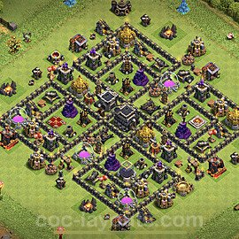 Base plan TH9 Max Levels with Link for Farming 2021, #205