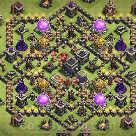Base plan TH9 Max Levels with Link for Farming 2021, #208