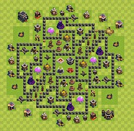 Base plan TH9 (design / layout) for Farming, #3