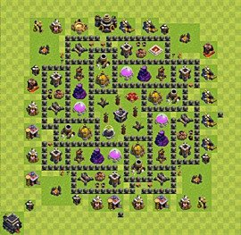 Base plan TH9 (design / layout) for Farming, #4