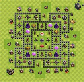 Base plan TH9 (design / layout) for Farming, #5