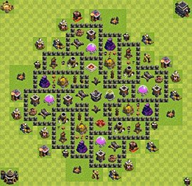Base plan TH9 (design / layout) for Farming, #6