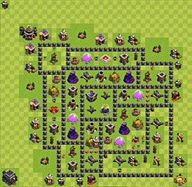 Base plan Town Hall level 9 for farming (variant 60)