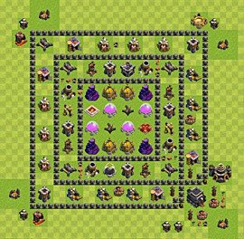 Base plan TH9 (design / layout) for Farming, #7