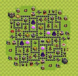 Base plan TH9 (design / layout) for Farming, #8