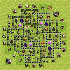 Base plan Town Hall level 9 for farming (variant 83)