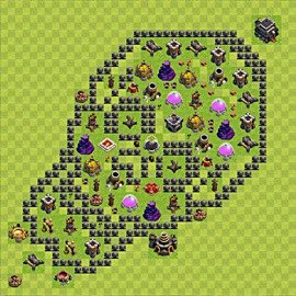 Base plan Town Hall level 9 for farming (variant 85)