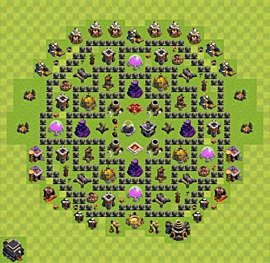 Base plan TH9 (design / layout) for Farming, #9