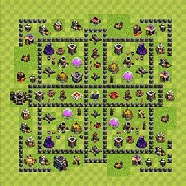Base plan Town Hall level 9 for farming (variant 90)