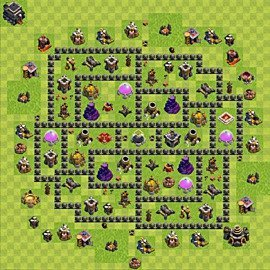 Base plan Town Hall level 9 for farming (variant 92)