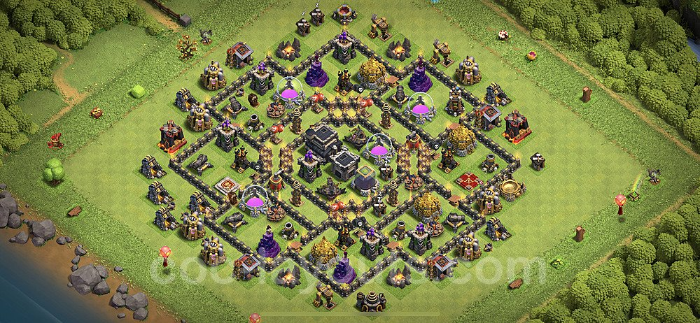 Base plan TH9 (design / layout) with Link for Farming 2020, #195