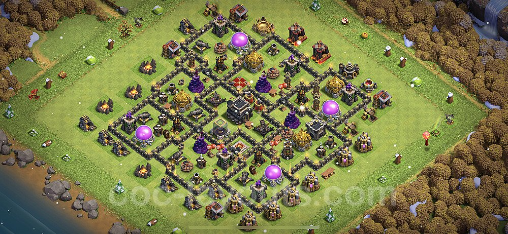 Base plan TH9 Max Levels with Link for Farming 2021, #217