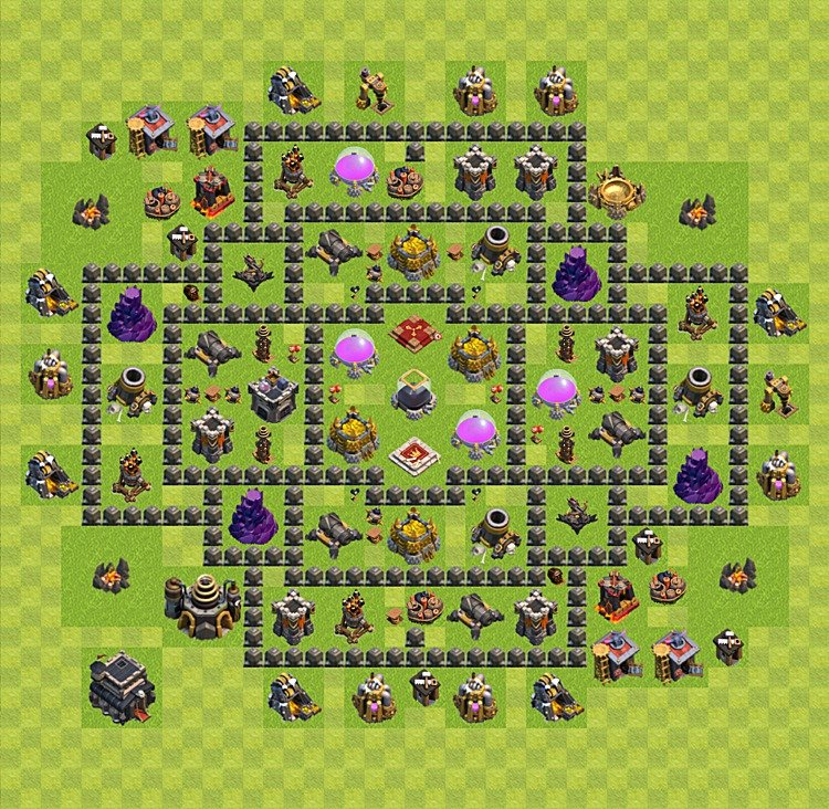 Plan Ville Clash Of Clan