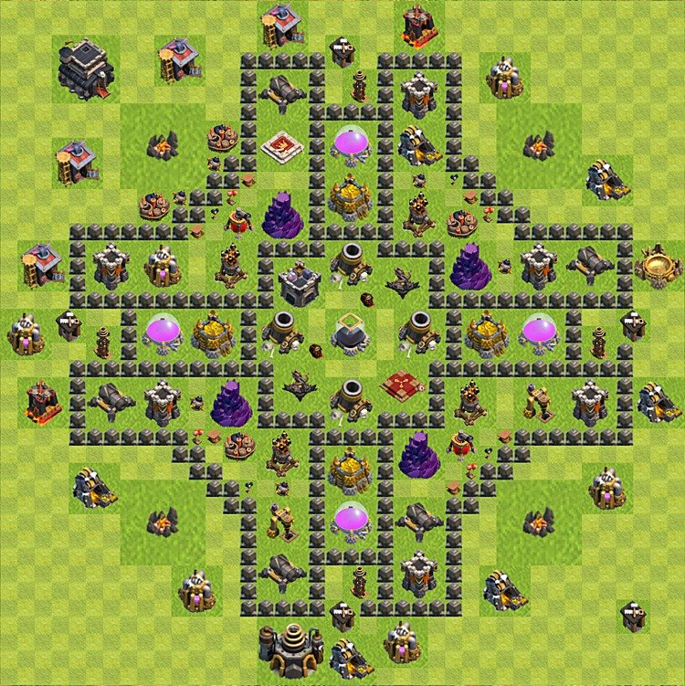 Clash of clans th 9 base layout newhairstylesformen2014 com