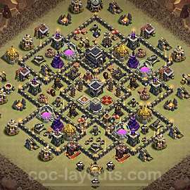 TH9 War Base Plan with Link, Copy Town Hall 9 Design 2020, #25