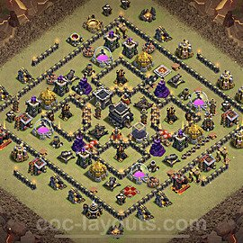 TH9 Max Levels War Base Plan with Link, Copy Town Hall 9 Design 2020, #26