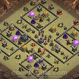 TH9 War Base Plan with Link, Copy Town Hall 9 Design 2020, #27